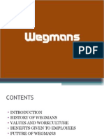 • • • • • Introduction History of Wegmans Values