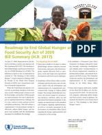 Roadmap Bill Summary