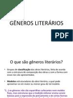 apresentação GÊNEROS LITERÁRIOS