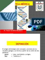 CLASE 1. INTRODUCCION A LA GENÉTICA MÉDICA