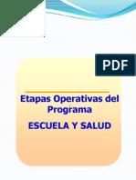 Escuela y Salud Guia Paar Accione s Escuelas a Certificar Etapas Operativas