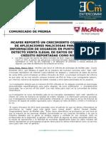 NP McAfee -McAfee Presenta El Informe de Amenazas Del Cuarto Trimestre 2013