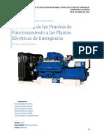 Mantenimiento de Plantas Eléctricas de Emergencia