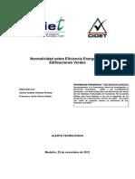 Normatividad Sobre Eficiencia Energetica y Edificaciones Verdes
