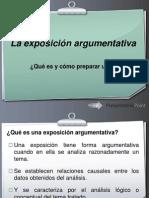 La Exposicic3b3n Argumentativa