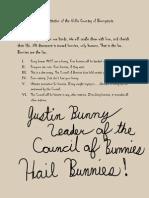 Bunnytopian Constitution