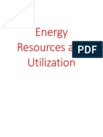 Energy Resources and Utilization