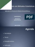 Tópicos Especiais em Métodos Estatísticos