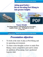 Elevating Port Klang to Attain Great Heights