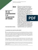 Privatizaciones en Bolivia