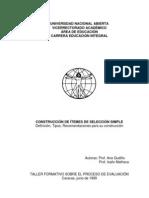 V CONSTRUCCIÓN DE ÍTEMES