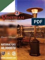 Lava Heat Italia - Venetian - Owners Manual