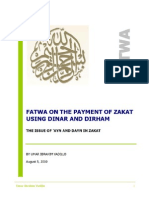 Fatwa on the Payment of Zakat Using Dinar and Dirham - By Umar Ibrahim Vadillo