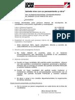 Acuerdos de Plenario Nacional Extraordinario 2014