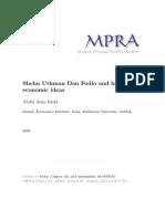 Shaykh Uthman Bin Fodi - Economics Ideas