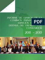 Comisión de Servicios Públicos y Defensa del Consumidor - Informe de Gestión 2011-2013