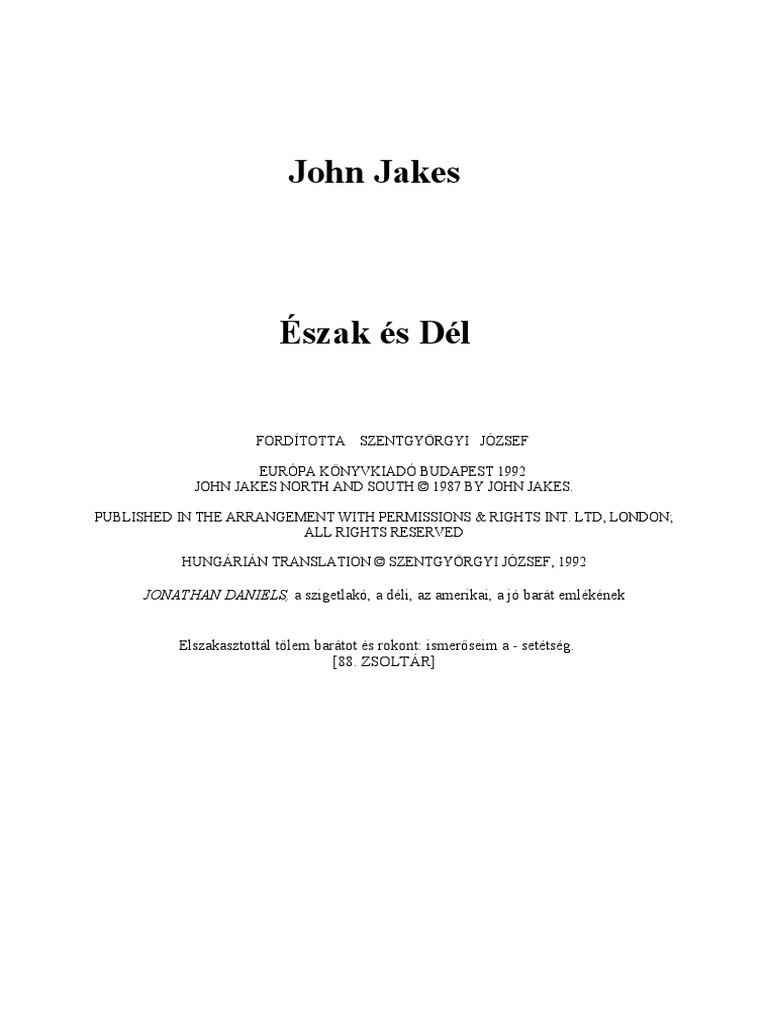 John Jakes - Észak és dél 96cce9aedf