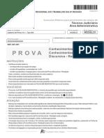 Prova FCC TRT São Paulo