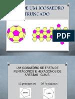 ÁREA DE UM ICOSAEDRO TRUNCADO