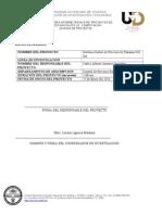 ReporteDel Sistema de Control de Procesos