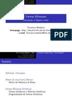 Formas Bilineares