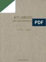 Acte Judiciare Din Tara Romaneasca 1775-1781