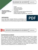 Reporte Preliminar de Accidente Tm