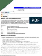Measuring Loudspeaker Driver Parameters
