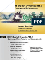 ANSYS 15.0 ANSYS Explicit Update