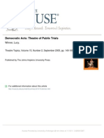 Democratic Acts From Theatre Topics