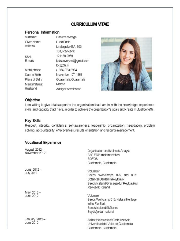 curriculum vitae luca cabrera 2014 guatemala software