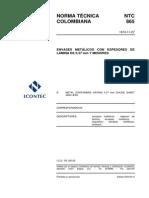 NTC 865 Envases metálicos