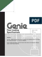 Genie Aerial Equip. Floor Load Specs