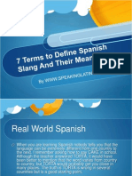 What is Spanish Slang?