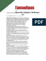24-03-2014 Hoy Tamaulipas - Muy desesperado Quique Cárdenas Jr..