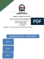 Analisis de Los Programas de Estudio