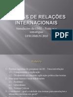 Thomaz Santos - Teorias de relações internacionais