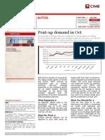 21102009 Autos - Pent-up Demand in Oct