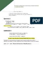 Una aplicación de consola en C# inicio