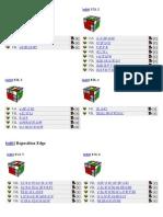Rubik cube - CFOP method - F2L Algorithms cheatsheet A4 Color.ppt