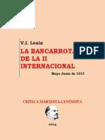 Lenin - La Bancarrota de La II Internacional (1915)