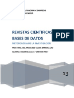 Revistas Nacionales, Internacionales y Base de Datos