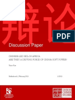 CCS Discussion Paper Africa SEZs and China Soft Power YK 2013 Final