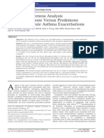 Cost-Effectiveness Analysis of Prednisone vs Dexamethasone in Pediatric Asthma