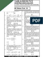 Ssc Mains (Maths) Mock Test-16