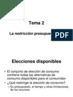 La Restriccion Presupuestaria