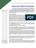A democracia direta em Rosseau Por ANTONIO INÁCIO ANDRIOLI