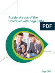 Accelerate Out of the Downturn With Sage CRM Whitepaper