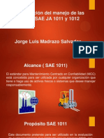 Interpretación del manejo de las normas SAE JA 1011 y 1012