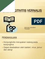 presentasi Konjungtivitis vernalis